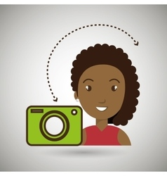Woman camera photo images gallery vector