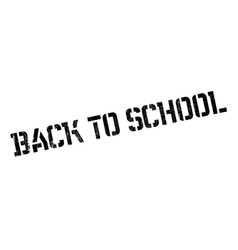 Back to school stamp vector image