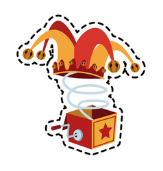 Jack in the box toy icon image vector