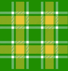 green plaid pattern vector image