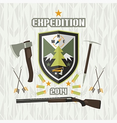 Expedition emblem vector