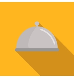 Restaurant cloche flat icon vector