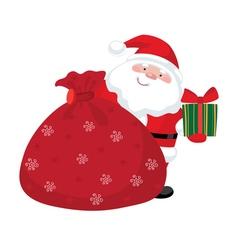 Santa claus gifts vector image
