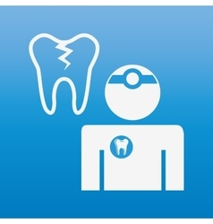 Professional dentist design vector