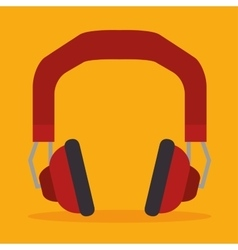 Headset isolated design vector