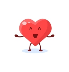 Heart primitive style cartoon character vector