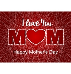 Happy mothers day heart thread vector