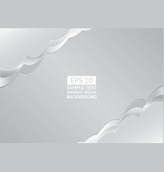 Abstract gray wave overlap background with copy vector