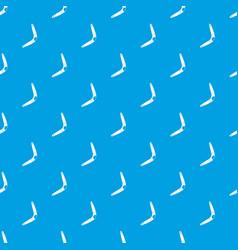 Boomerang pattern seamless blue vector