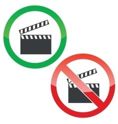 Capture permission signs set vector