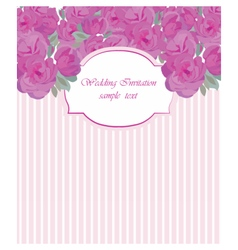 Card with watercolor rose flowers vector