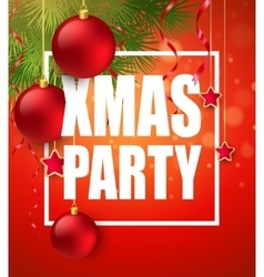Christmas Party design template vector image vector image