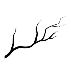 dark branch tree plant forest icon vector image