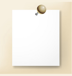 design element sheet of white paper hanging on the vector image