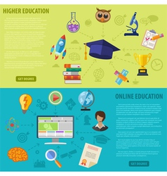 Education Banners vector image vector image