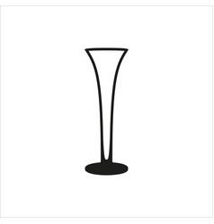 empty champagne glass icon monochrome style vector image