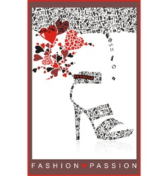 fashion passion vector image