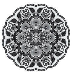 grey circular decorative geometric pattern for vector image vector image