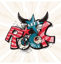 Grunge rock poster vector image