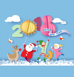 happy new 2018 year card vector image