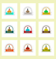 Label icon on design sticker collection spice with vector