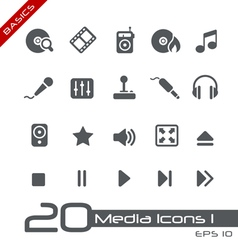Media Entertainment Basics Series vector image vector image