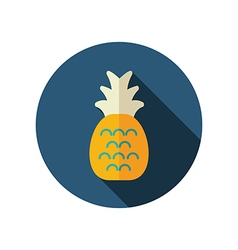 Pineapple flat icon summer vacation vector