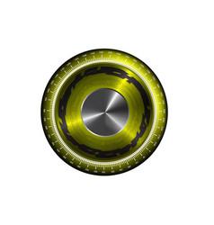Round logo on white background vector