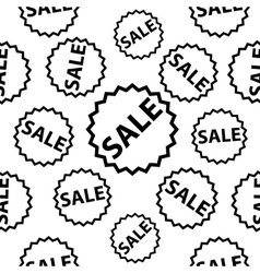 Seamless pattern with black sale signs vector image vector image