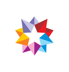 Star 3d colorful abstract logo vector