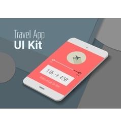 Travel mobile app ui smartphone mockup vector