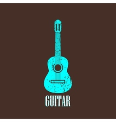 Vintage with guitar vector
