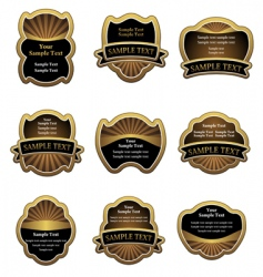 Set of vintage gold labels vector