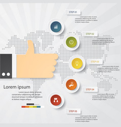 5 steps presentation template for your data vector
