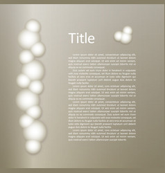Bunch of white luminous protein balls glow bulbs vector