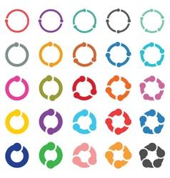 25 arrow pictogram refresh reload rotation loop vector image vector image