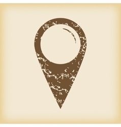 Grungy map pointer icon vector