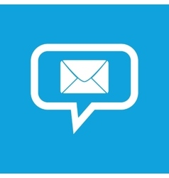 Letter message icon vector