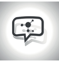 Curved molecule message icon vector