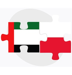United arab emirates and poland flags vector