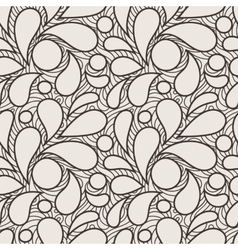 Seamless pattern of stylized petals vector
