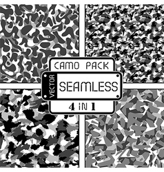 War black and white seamless camouflage pack vector