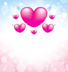 Love heart pink background 1 vector