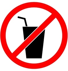 No drink sign  flat design vector