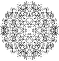 Intricate geometric pattern on white background vector