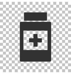 Medical container sign dark gray icon on vector