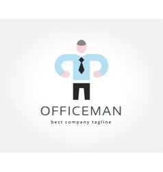 Abstract office man logo icon concept Logotype vector image