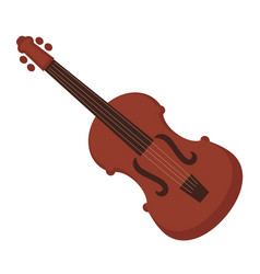 Antique violin of dark wood isolated vector
