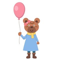 Bear with balloon vector