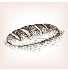 Bread sketch style vector image